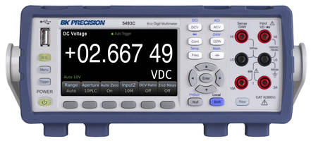 New Digit Benchtop Multimeters with Simple to Read 4.3-inch LCD