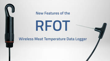 New RFOT Wireless Meat Temperature Data Logger Features Improved Battery Life Indicator