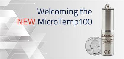 New MicroTemp100 Data Logger is Submersible up to 230 ft.