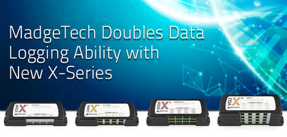 New X-Series of Data Loggers Available with 4, 8, 12 or 16 Channels