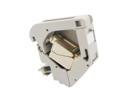 New DIN Rail RJ45 Mounting Module Includes Ground Spring