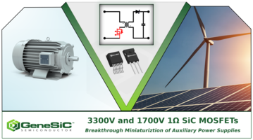 New SiC MOSFETs Feature Low Intrinsic Capacitance and Charge