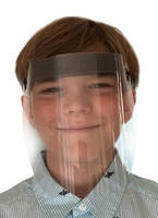New Junior Face Shield Features Flexible Headgear