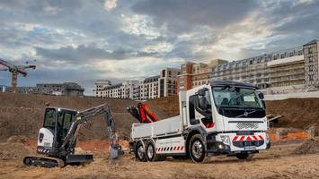 New Electric Truck and Compact Excavator Provides Low Noise and Vibration Levels