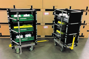 New Towed Cart is Designed to Hold up to Two Hours of Inventory