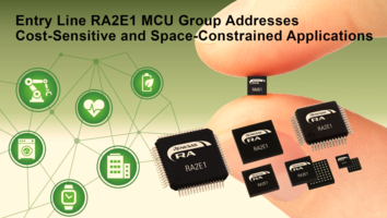 New RA2E1 MCUs Support Operating Voltage Range of 1.6 to 5.5 V