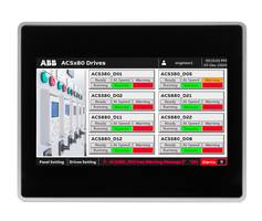 New ABB HMI and Drive Faceplates with Integral Web Server Capability