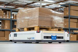 New Autonomous Mobile Robot Moves Pallets and Large Payloads up to 1136 kg
