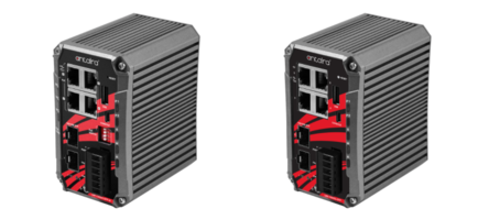 New Industrial Ethernet Switches with 4 Gigabit Ethernet Ports and 2 Dual Rate SFP Slots