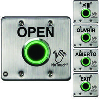 New NoTouch Stainless Steel Button with Dual Color Status LED