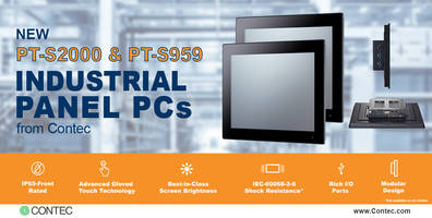 New Rugged Panel PCs with IP65-front Rated Ingress Protection