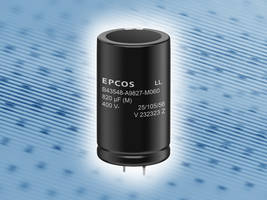 New Snap-in Aluminum Electrolytic Capacitors with Maximum Ripple Current Capability of 9.80 A