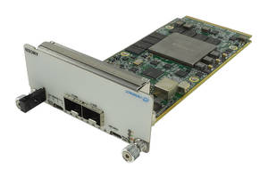 New Module with Dual Front Panel SFP+ for 2x 10 GbE Fiber