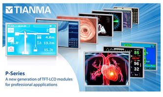 New P Series TFT LCDs Available with PCAP Touch Technology