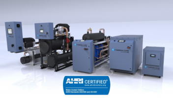 Thermal Care Water‐Cooled Chillers are Now AHRI Certified®