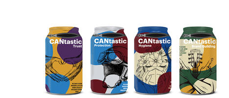 New Aluminium Can Packaging is Ideal for Promoting the Brand Owners Message