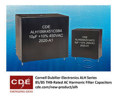 New Filter Capacitors are Ideal for Solar, Wind, UPS, EV, and Other Inverter Applications