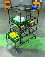 New ESD Flow Rack Offers Three Levels for Product Presentation