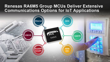 New RA6M5 Group MCUs Support Error Correction Code in RAM