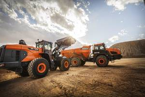 New 7 Series Wheel Loaders Feature Electronic Joystick