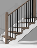 New Stair Risers and Brackets Feature Shiplap and Beaded Planking Design
