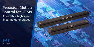 New V-855 and V-857 Linear Modules Available with Top Speeds of 5m/sec