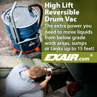 High Lift Drum Vac LIft Liquids up to 15 Feet