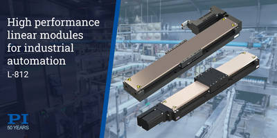 New L-812 Linear Modules With Travel Range from 102 to 610mm