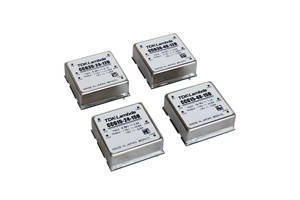 Dual Output 15W and 30W 1 inch by 1 inch DC-DC Converters Have 4:1 Input Range