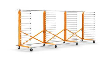 New Heavy-duty Rack with 5 Inch Locking Casters and Anti-torque Stabilizers