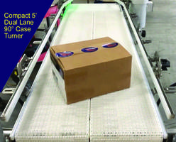 New Compact Dual Lane 90 Degree Case Turner Measures 5 Feet Long End-To-End