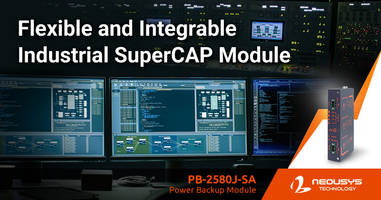 New Supercapacitor-Based Power Backup Module with 2500 Watt-Second Capacity