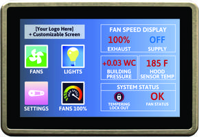 New Touch Screens with Customized Graphics and Interface