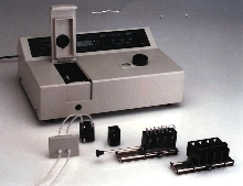 Spectrophotometer is available with a range of accessories.