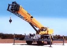 Large Crane handles rough terrain.