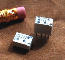 Miniature Relays consume very little power.