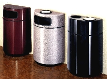 Receptacles feature seamless construction.