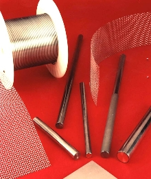 Anodes can be supplied as wire, rod and woven mesh.