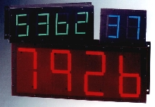 Numeric Display Counters are readable from 400 ft away.