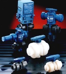 Ball Valves are used for clean-in-place applications.