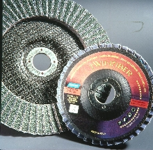 Flap Disc combines two abrasive grains.