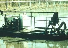 Dredges keep lagoons clean of sludge.