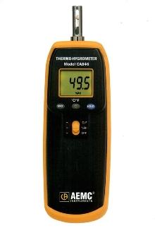 Hygrometer also measures temperature.