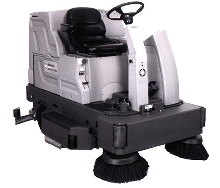 Floor Cleaner lets operator scrub in comfort.