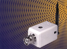 Transmitter sends video signals from security cameras.
