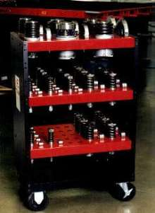 Carts transport Amada and Strippit turret tooling.