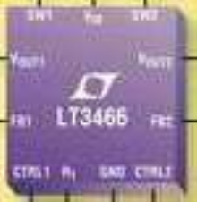 DC/DC Converter drives up to 20 LEDs.
