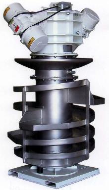 Spiral Elevator has variable pitch flighting.