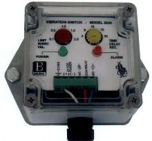 Vibration Monitor works with process machinery.