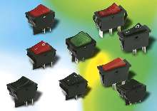 Power Rocker Switches offer snap-in mounting.